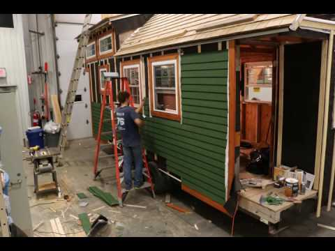 the Wicked Tiny House - Cedar Siding Installation Time Lapse