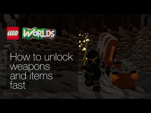 Lego Worlds - How to unlock weapons and items quickly