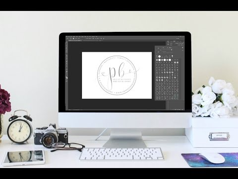 How To Make handwritten scroll photography logo in Photoshop