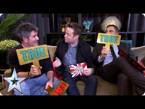 True or false with Simon Cowell and David Walliams | BGMT 2018