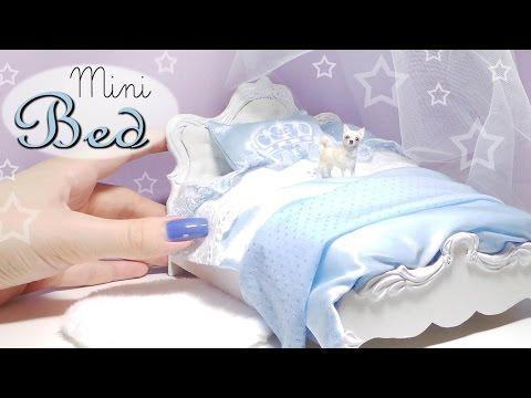 Cute Miniature Bed Tutorial // Dolls/Dollhouse // SugarCharmShop