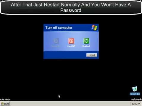 How To Bypass Password On Windows XP (Remove)