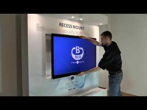 B-Tech BT8310 - Mount Your Screen Into a Recess