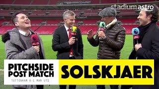 PITCHSIDE: Solskjaer post match reaction   Tottenham 0 - 1 Man United   Astro SuperSport