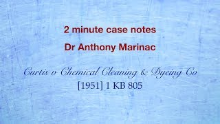 Download Curtis v Chemical Cleaning Co (Exclusion Clauses) Video