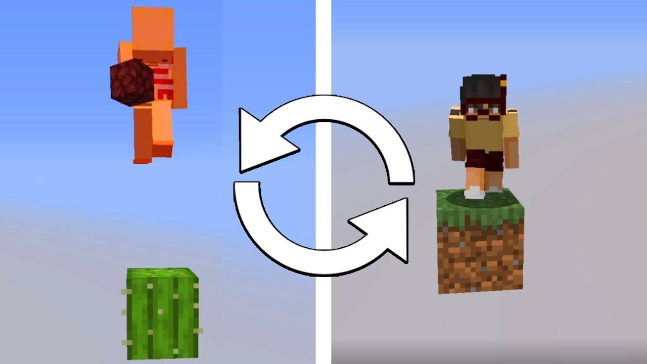 Minecraft Death Swap, But We Start On One Block...