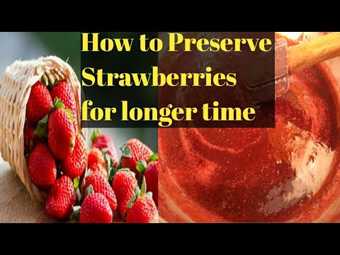 How to Preserve and Store Strawberries At Home | 2 Ingredients Strawberry Crush and Jam|Kitchen Tips