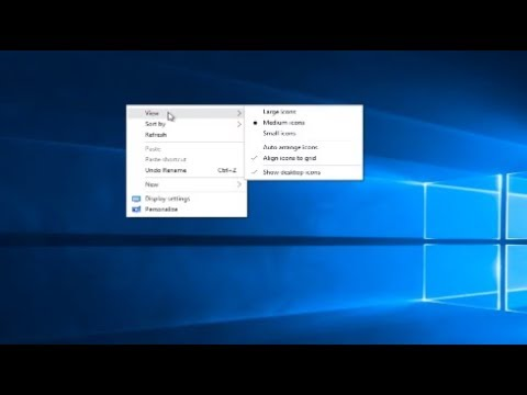 How To Place Desktop Icons Anywhere On Windows 7/8/10