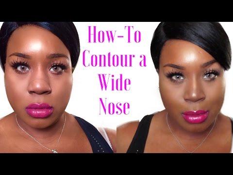 How To Contour A Wide Nose ~Blackchinabear