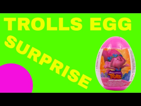 TROLLS KINDER SURPRISE EGGS OPENING
