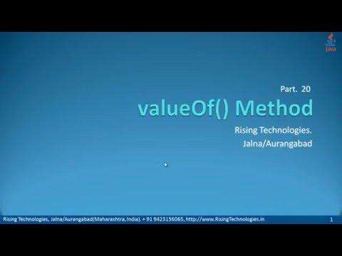 20   valueOf Method