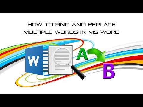 How to find and replace multiple words in ms word?