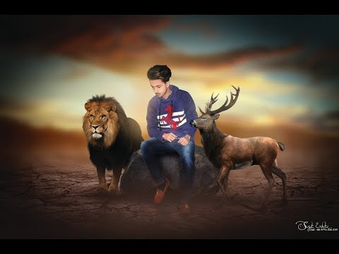 Animal King Manipulation Photo Edit Tutorial