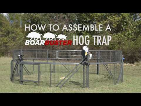 How To Assemble A BoarBuster Hog Trap | Feral Hog Trap Setup 2017
