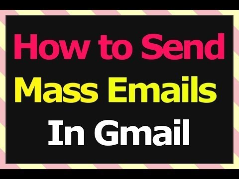 Sending Mass Emails in Gmail : How to send Bulk Email in Gmail