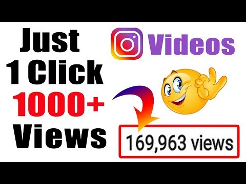 How to increase instagram video Views and Followers 2018 | Free Views | Get Followers on insta Fast