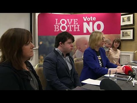 Anti-abortion campaign in Ireland claims only existing restrictive law will protect babies with…