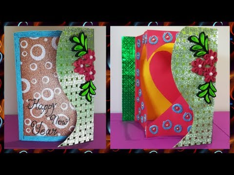DIY || Make Popup Greeting Card for Christmas & New Year at Home || Quilling Art|| World of Artifact