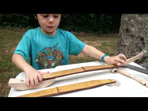 Easy, Powerful, DIY hunting bow! Hunt large game, and it folds up!