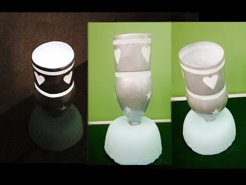 Make a Home Made Night Table Lamp| Easy Home Made Lamp by creativity brain
