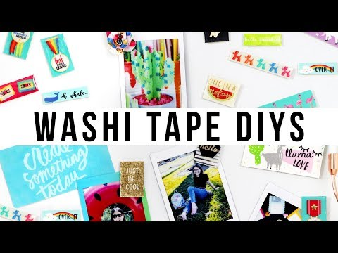 NEW DIY IDEAS TO MAKE OUT OF WASHI TAPE | @karenkavett