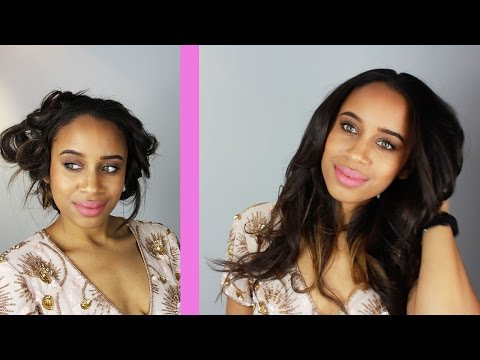 Pin Curl Waves On Relaxed Hair