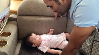 MS Dhoni With His Daughter(Ziva Dhoni)Leaked New Video