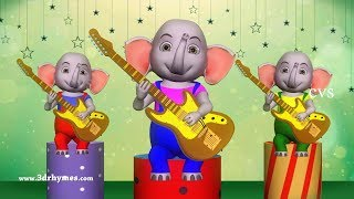 Elephant Finger Family - 3D Finger Family Nursery Rhymes & Songs for Children