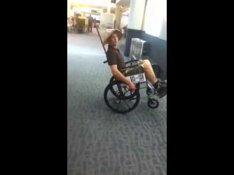 Wheelchair airport