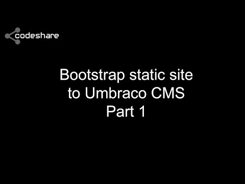 How to build a site with Umbraco - Part 1 - Getting Started
