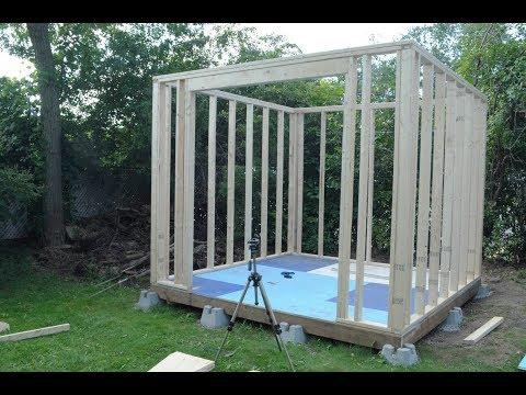 Amateur Shed Build Part 5 Frame The Walls
