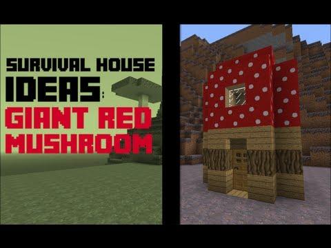| Minecraft | : Survival House Ideas - Giant Red Mushroom