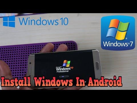 Real Windows 10 | XP | 7 Install Android Phone & Tablet  2018