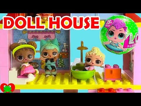 LOL Surprise Dolls Lego Duplo Doll House Build and Surprises