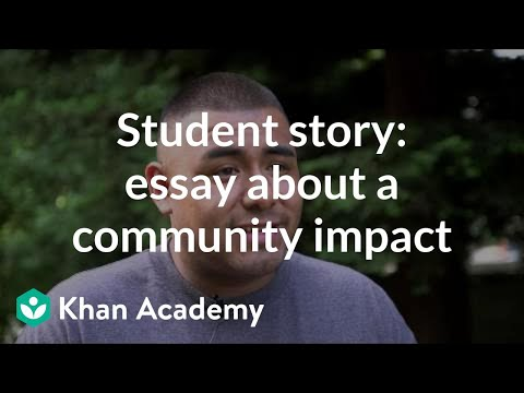 Student story: Admissions essay about community impact