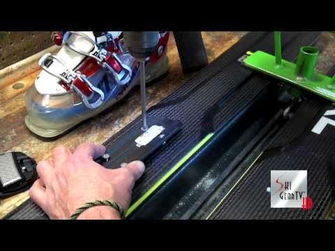 Alpine Ski Binding Mounting Core Shot At Jackson Hole Mountain Resort