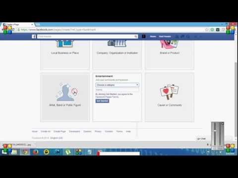 how to create the facebook page