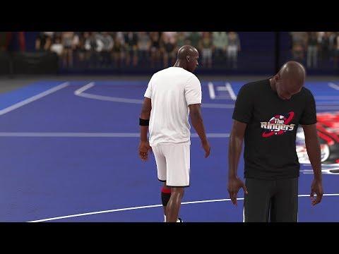 NBA 2K18 Michael Jordan vs Jordan Creation (Who's Better, Who's Best) Blacktop Full Game Play