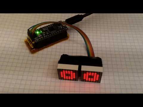 Programmable DIY matrix eyes for arduino robot project