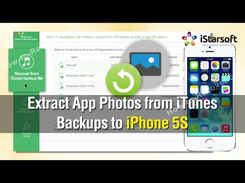 How to Extract App Photos from iTunes Backups to iPhone 5S