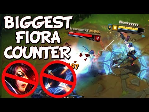 HOW TO COUNTER FIORA EASILY - Funny Moments #36 - League Of Legends