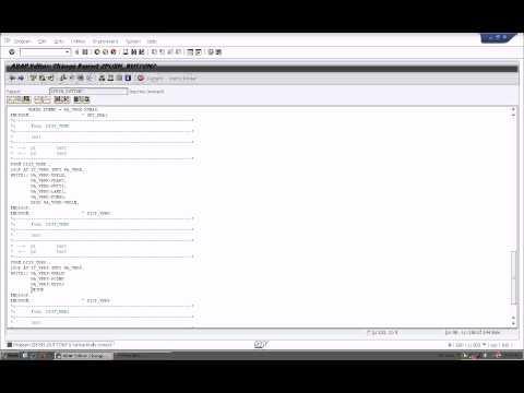 SAP- Sample Report Using Push Buttons
