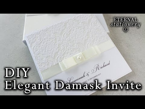 Simple and elegant damask invitation tutorial | DIY Wedding Invitations
