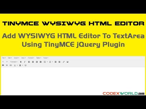 Add WYSIWYG HTML Editor to Textarea on Your Website