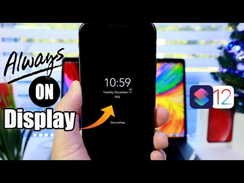 How to Enable Always On Display on iPhone iOS 12 Siri Shortcuts