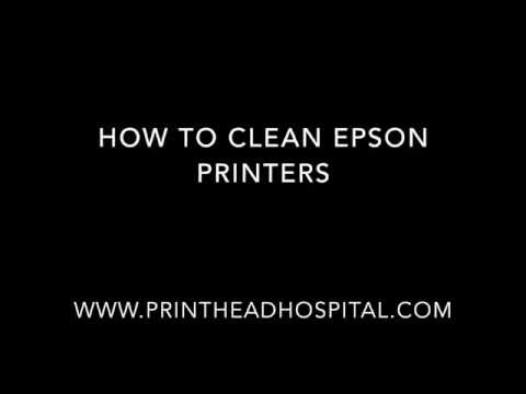 How to clean Epson Printers