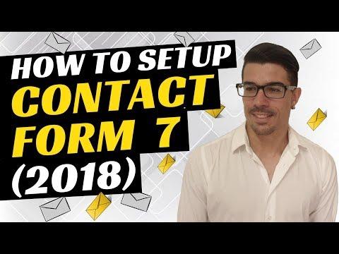 How To Setup Contact Form 7 WordPress Plugin (2018)