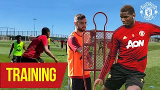 Training | Pogba and Bruno practice free kicks together 👀 | Manchester United