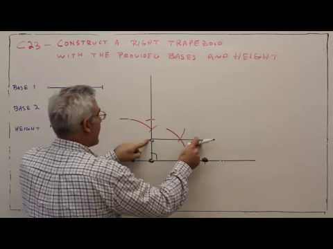 C23--Construct a Right Trapezoid Given Bases and Height