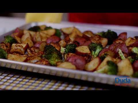 Simple Shrimp and Veggies Sheet Pan Recipe - The Produce Moms